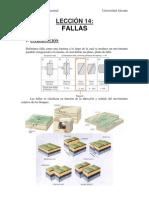 Analisis Geologico Estructual - Leccion 14 - Fallas