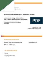 A comunicação educativa em ambientes virtuais (ppt)