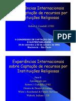 Experiências Internacionais Na Captação de Recursos Por Instituições Religiosas
