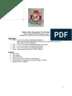 Metric Mini Accordion File Folder Val