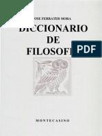 Ferrater Mora - Dicc de Filosofia L