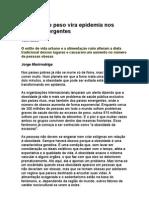 Excesso de Peso Vira Epidemia Nos Países Emergentes - Jorge Marirrodriga - Nutrição - Obesidade