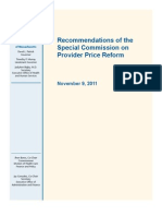 Massachusetts Special Commission On Medical Care Price Provider Reform (2011)