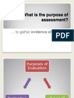 What is the Purpose of Assessment