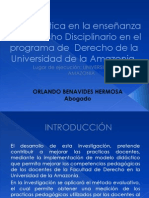Propuesta Investigacion Didactica en Derecho Disciplinario