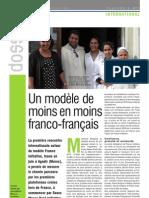 Un modèle de%0Amoins en moins%0Afranco-français