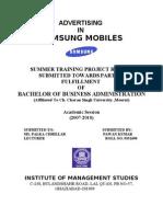 Final Report Samsung Mobiles