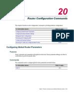 Router Configuration Commands