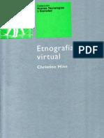 Hine, Christine - Etnografia Virtual Uoc