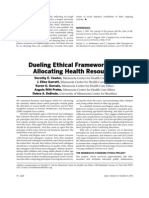 Dueling Ethical Frameworks for Allocating Health Resources.