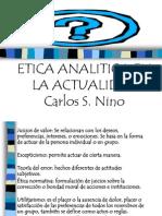 Etica Analitica en La Actual Id Ad