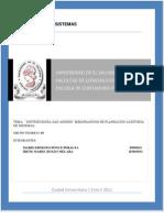 Memorandum de Planeacion 2011