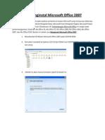 Menginstal Microsoft Office 2007