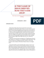 Jesus and Zeus
