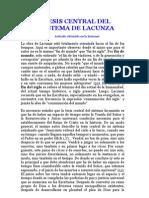 Tesis Central Del Sistema Del Jesuita Manuel Lacunza