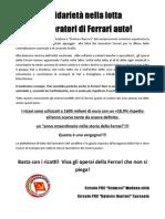 Volantino Per Presidio Ferrari 12-11-2011