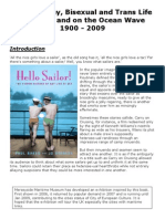Lesbian, Gay, Bisexual and Trans Life in Britain and on the Ocean Wave 1900 - 2009