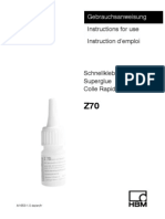 HBM Z70Adhesive Application