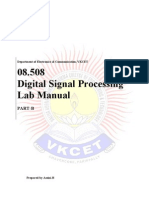 08.508 DSP Lab Manual Part-B