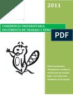 """Documento de Trabajo y Debate #1. Sobre la propuesta """"Rendimiento académico mínimo para las escalas bajas"""" de la Dirección Académica de Economía"""