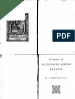 Palestinian Jewish Aramaic Grammar - Torah Jewish Israel
