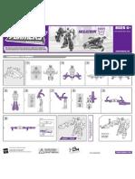 TFA Megatron (Voyager) Instructions