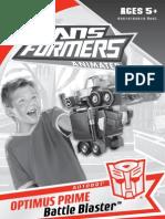 TFA Optimus Prime Battle Blaster Instructions