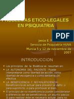 Problemas Etico-legales en Psiquiatria