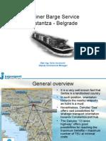 Container Barge Service Constanta - Belgrade (for Novi Sad Congress)_Jugoagent