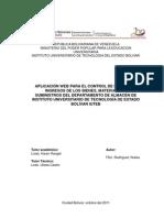 Aplicacion Web Para El Control de Egresos e Ingresos de Bienes,Materilaes y Suministros Del Depart Amen To de Almacen Iuteb