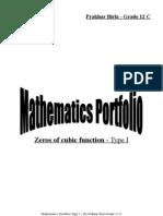 Zeros of Cubic Function