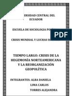 Crisis Hegemonia a