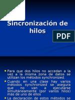Sincronización de hilos-2
