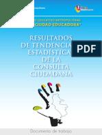 Resultados de tendencias y estadísticas de la consulta ciudadana