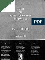 Actas Del Nuevo Codigo Penal Colombiano