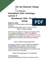 Bio 423 Lecture 3