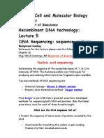 Bio 423 Lecture 5