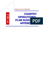 The President's Emergency Plan for AIDS Relief COUNTRY OPERATIONAL PLAN GUIDANCE APPENDICES 2012