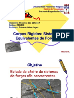 5 - Corpos Rigidos - Sistemas Equivalentes de Forcas