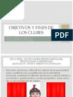 Objetivos y Fines de Los Clubes