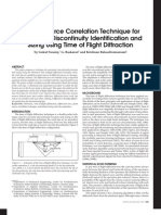 A Point Source Correlation Technique for Automatic Discontinuity Identification and Sizing Using Time of Flight Diffraction