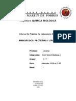 Prpteinas y Lipidos ( Lab Oratorio )