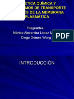 CinÉtica QuÍmica y Mecanismos de Transporte a TravÉs de La Membrana PlasmÁtica