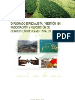 ESPECIALISTA  Gestión y negocaión de  conflicto socio ambientales