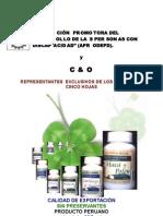 Catálogo de Los Productos Cinco Hojas