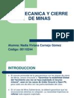 Geomecanica y Cierre de Minas