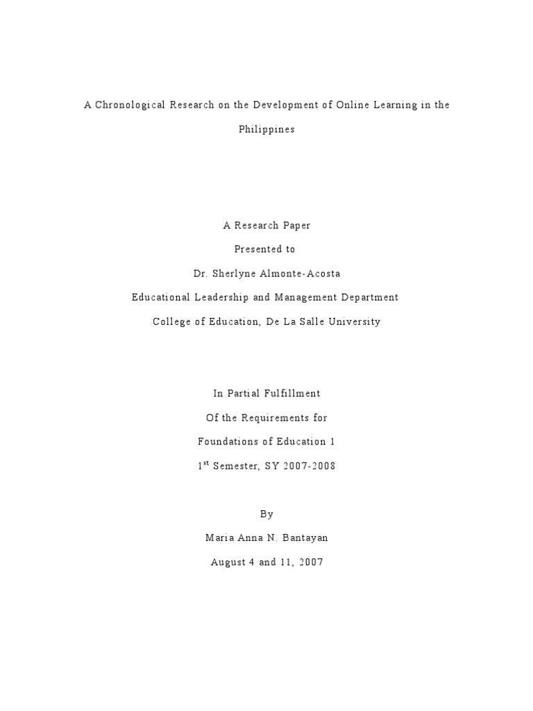 research paper instrument education