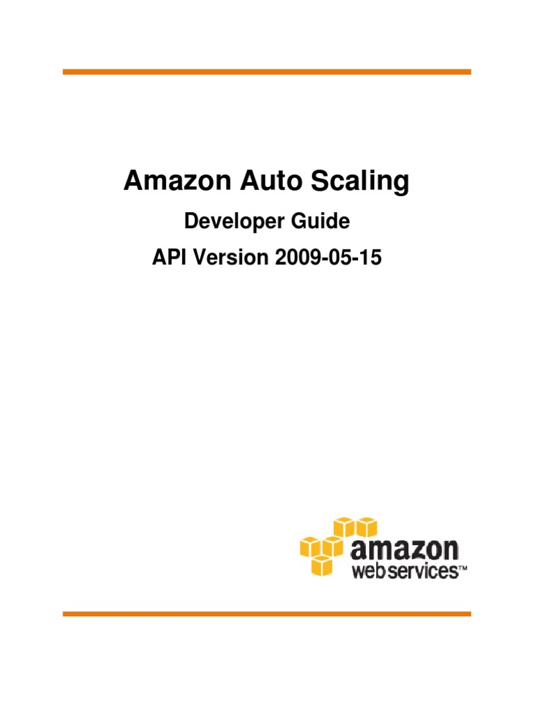 Auto Scaling Developer Guide