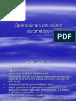 Operaciones del cajero automático