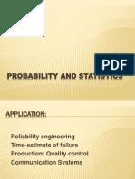 Probability and Statistics 1